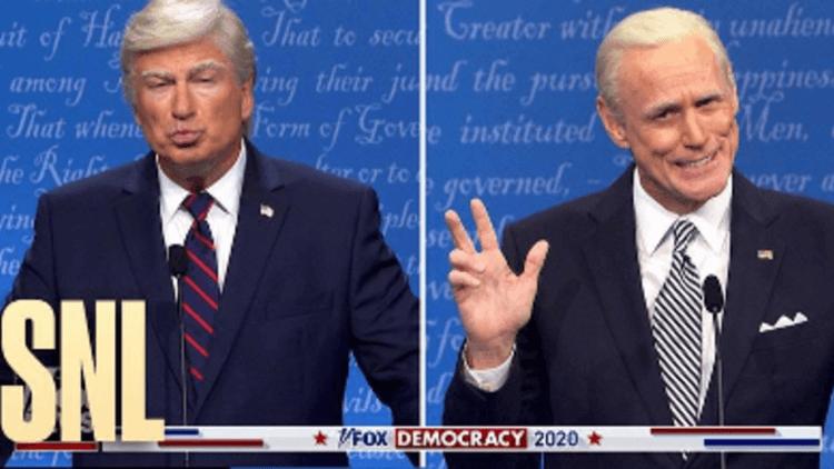 你可以閉嘴嗎?《週六夜現場》 端出惡搞版「總統大選辯論會」,亞歷鮑德溫的「川普」對上金凱瑞的「拜登」首圖