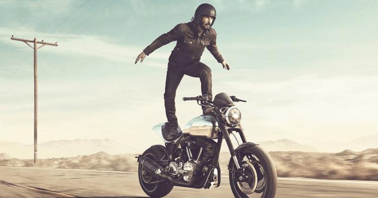 大明星愛重機  好萊塢的飆車狂之詩  ( 二 ) :基努李維 愛車愛到自己生產機車還表演特技首圖
