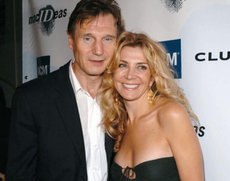 連恩尼遜與愛妻娜塔莎李察森
