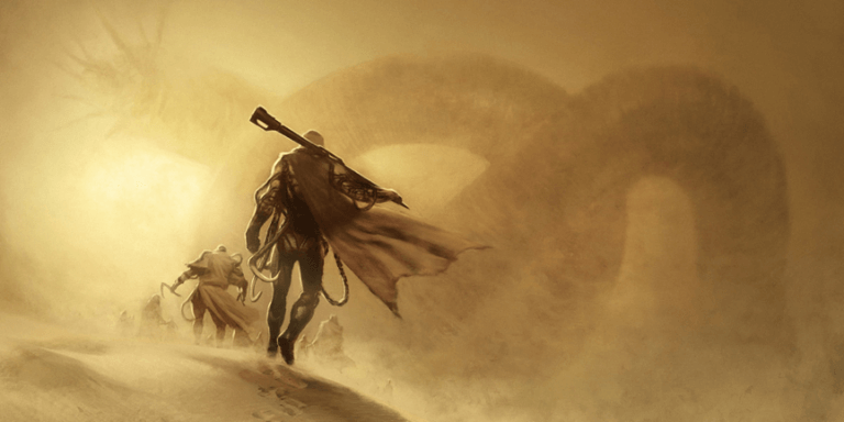 《沙丘魔堡》原著小說中的魔幻沙丘與奇獸。