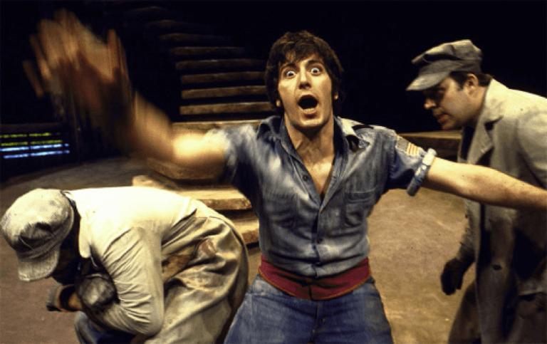 1970 年在紐約演出田納西威廉斯戲劇《Camino Real》的艾爾帕西諾。