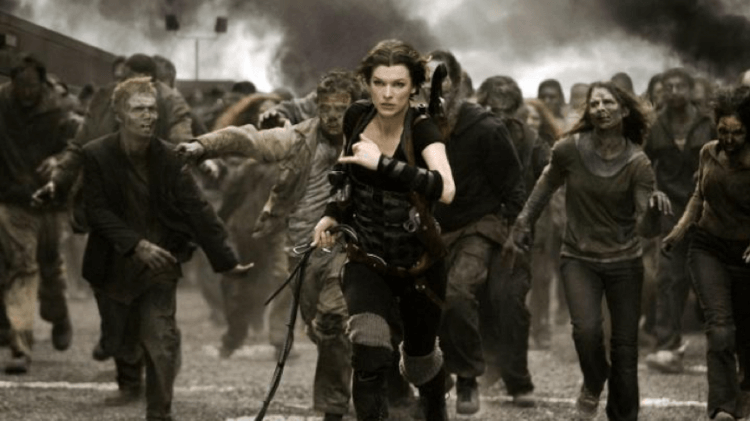 改編自同名電玩遊戲的《惡靈古堡》系列電影由蜜拉喬娃維琪領銜主演,圖為《惡靈古堡 6:最終章》(Resident Evil: The Final Chapter)。