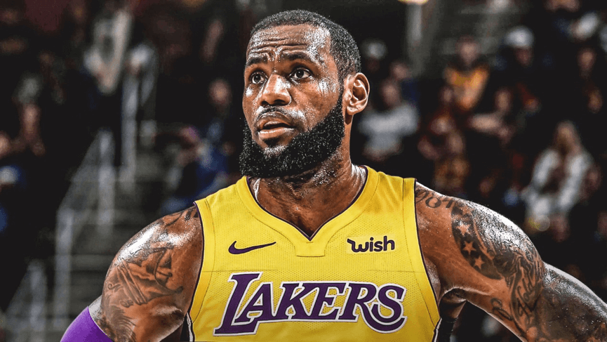 NBA 球星「 詹皇 」 LeBron James 加盟湖人隊。