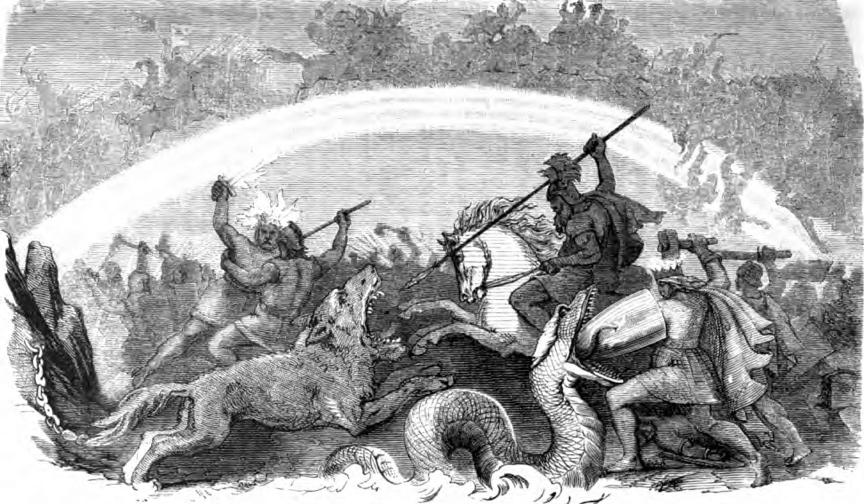 北歐神話之中的諸神黃昏。