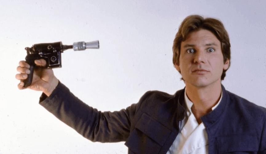 哈里遜福特 在《 星際大戰 4 》登場時的年輕模樣