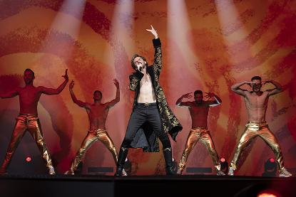 《歐洲歌唱大賽:火焰傳說》丹史蒂文斯。