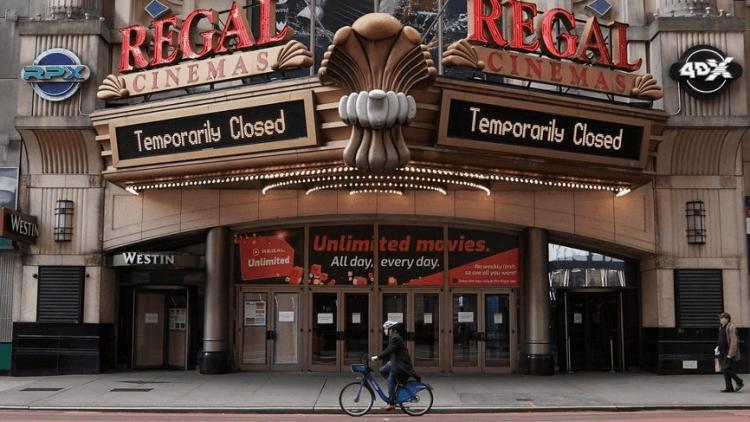 全球第二大連鎖影院體系的 Regal Cinema 宣布將暫時關閉全美及英國的所有電影院。