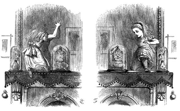 《我們》片中雅德蕾(露琵塔尼詠歐 飾)在鏡屋中的畫面彷如《愛麗絲夢遊仙境》。