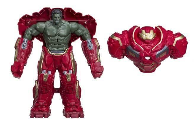 復仇者聯盟3 無限之戰 電影終不再見大的大綠人 浩克 在孩之寶推出的模型玩具中 身著 毀滅者盔甲 出現,可能是 刪減片段 當中的劇情也說不定。
