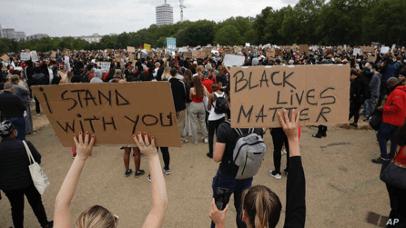 「黑人的命也是命」抗議活動。