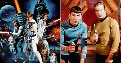 影壇發展數十年的人氣科幻電影《星際大戰》系列 以及《星際爭霸戰》系列。