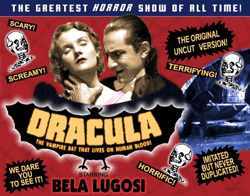 經典怪物電影《德古拉》宣傳海報。