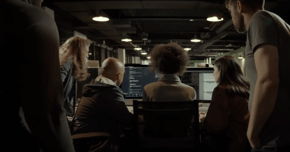 Netflix 劇情式紀錄片《智能社會:進退兩難》劇照。