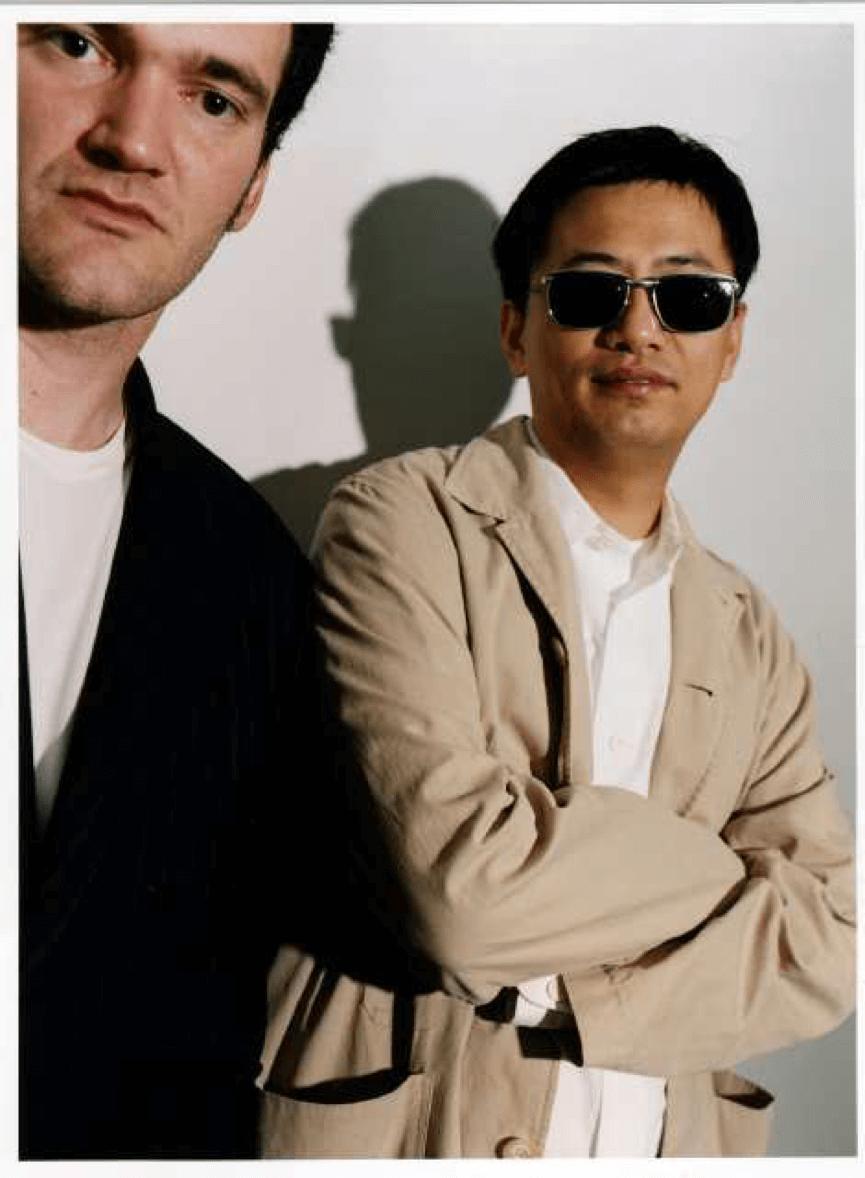 昆汀塔倫提諾 和他的偶像 : 王家衛 導演合影。