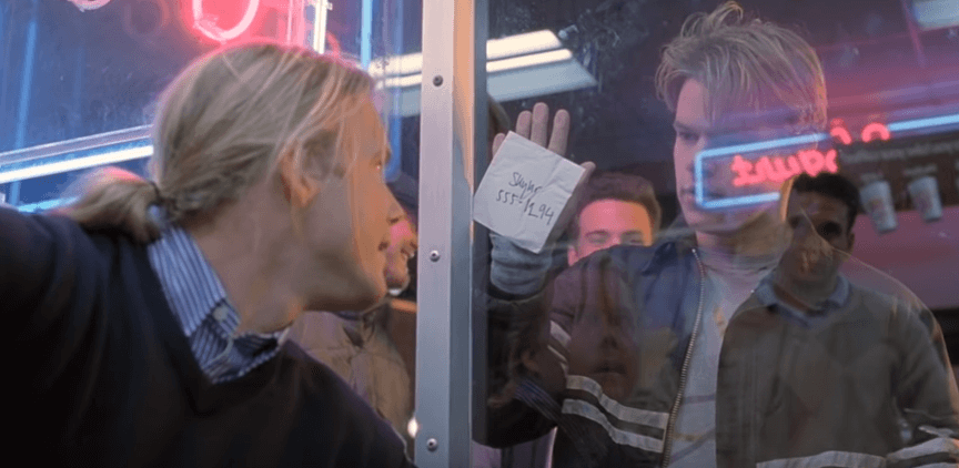 《心靈捕手》麥特戴蒙成功得到女主角的電話號碼。