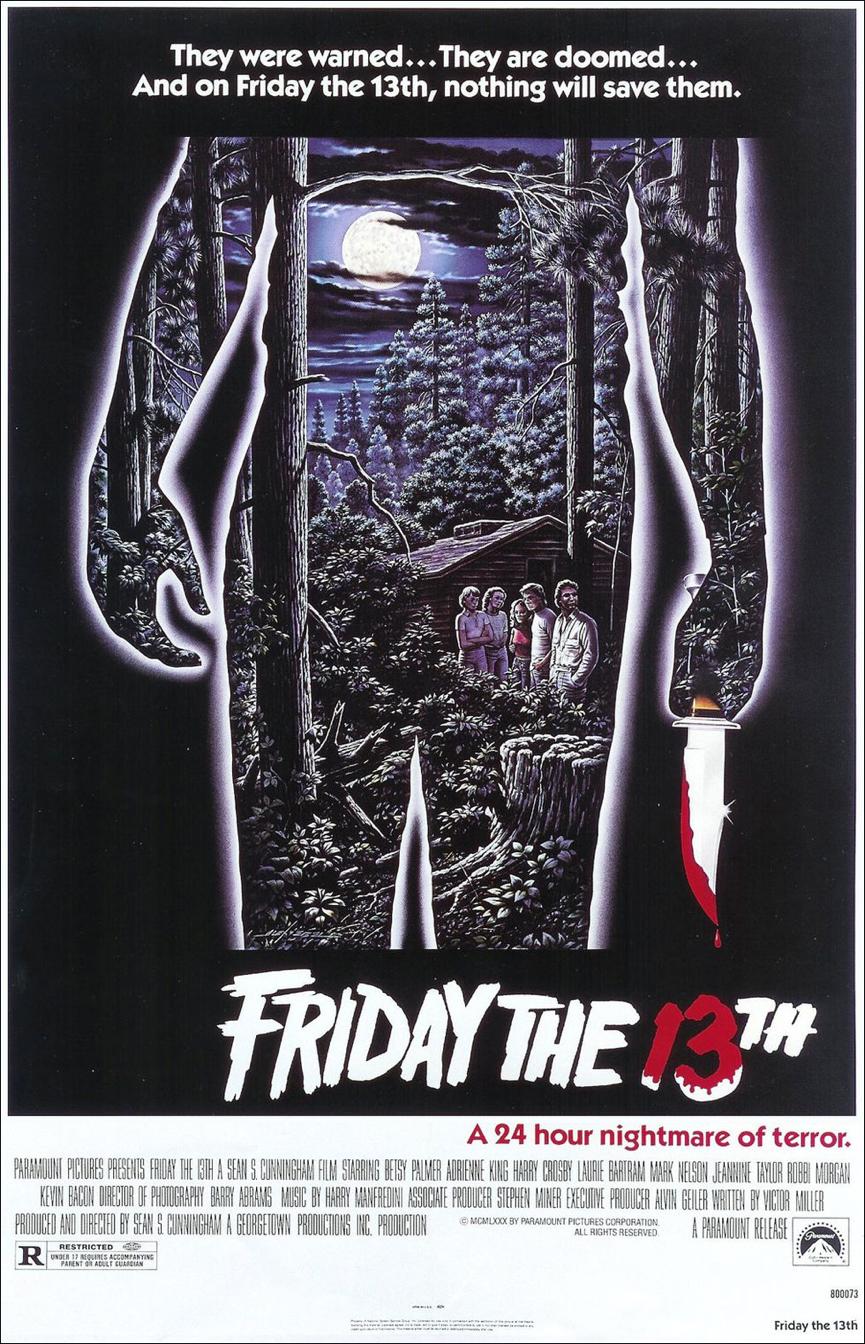 《 13號星期五 》 海報 。