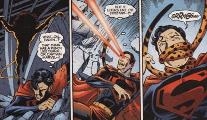 超人與豹女。