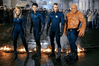 2005 年的《驚奇 4 超人》劇照。