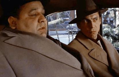 《教父》電影中的克萊蒙沙(左)與保利。