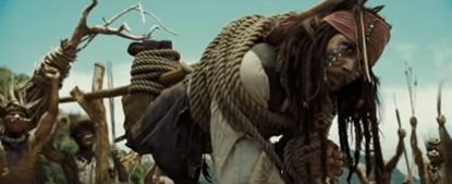 好萊塢的電影替身:《神鬼奇航 2:加勒比海盜》劇照。