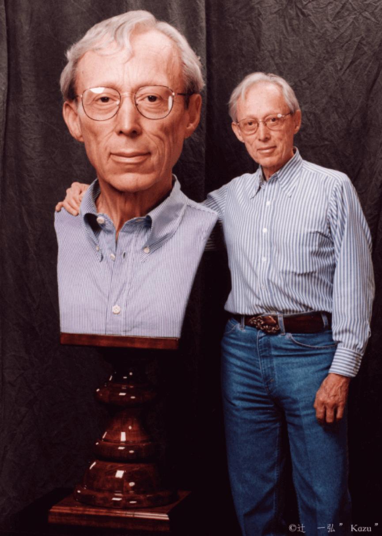 迪克史密斯與 辻一弘 製作的肖像合照。