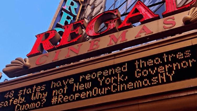 Regal Cinema 的抗議。
