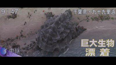 在 2003 年東寶怪獸電影《哥吉拉×摩斯拉×機械哥吉拉 東京SOS》中,可以看到 1970 年的電影怪獸卡美巴「現身」。