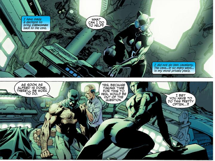 漫畫中,看起來貓女還蠻常進去蝙蝠洞的?