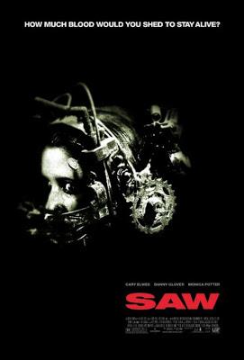 2004年的恐怖驚悚電影《 奪魂鋸 》海報。