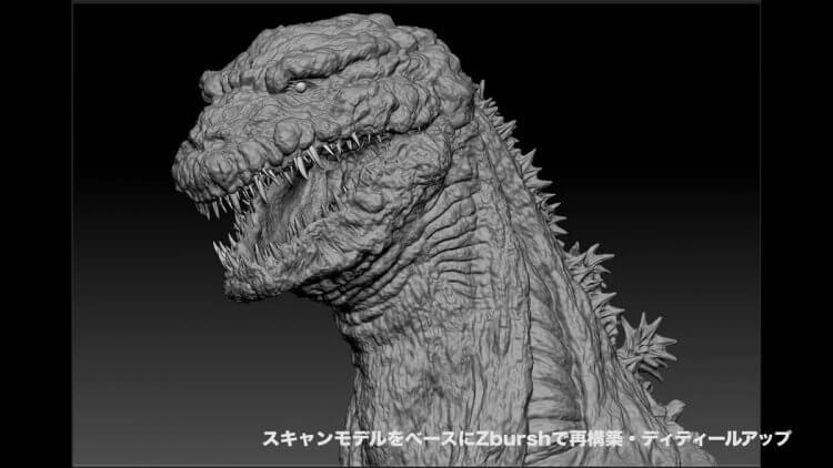 電影《正宗哥吉拉》中為求符合電影調性,利用電腦繪圖 CGI 技術打造日本第一頭數位哥吉拉。