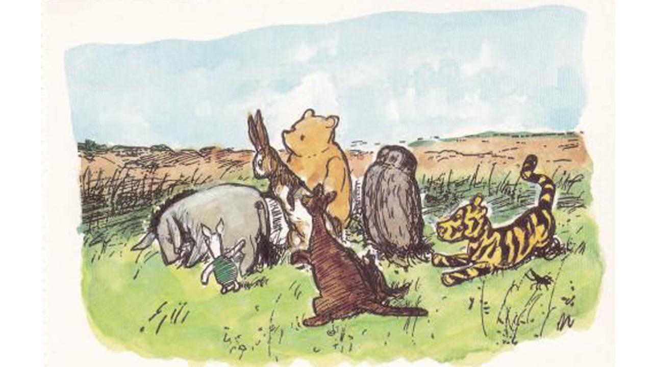 謝培德 繪製的「 古典維尼 」(Classic Pooh)。