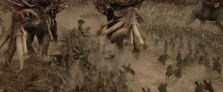 《魔戒三部曲:王者再臨》的帕蘭諾平原之役。