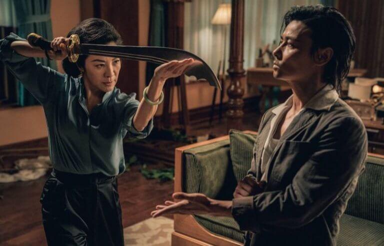 由張晉主演《葉問外傳:張天志》,片中有與楊紫瓊精彩對戲