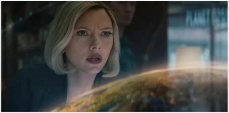 《復仇者聯盟:終局之戰》映前特別預告中的黑寡婦(史嘉蕾喬韓森 飾)。