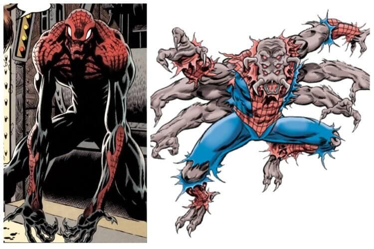 漫畫中登場過的恐怖版本蜘蛛人......是否和《在黑暗中說的鬼故事》查克的蜘蛛人服裝有點相似呢?