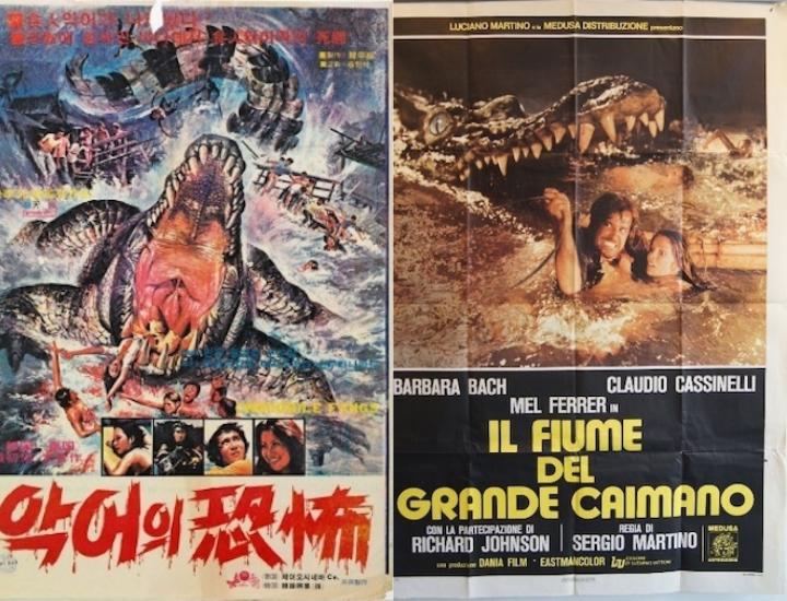 受到《大白鯊》影響,1970 年代末的泰國電影《鱷之牙》以及義大利電影《巨鱷之河》。