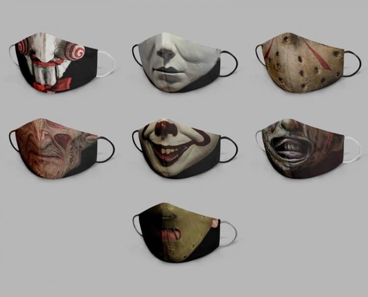 經典恐怖電影角色口罩組合包。