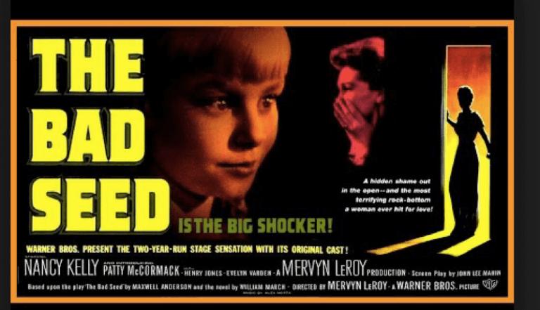 1956 年的經典恐怖電影《壞種》,一個 8 歲的小女孩卻是一切恐怖驚悚的源頭?