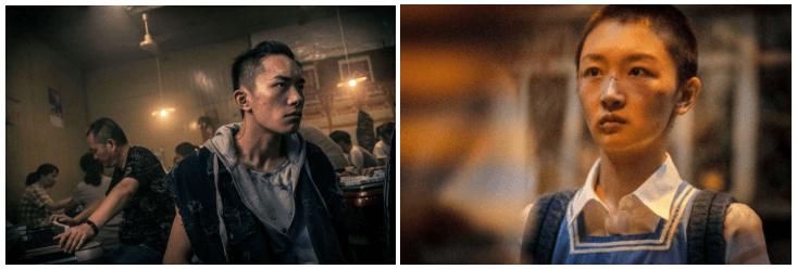 中國青春現實題材電影《少年的你》主演易烊千璽、周冬雨。