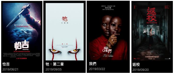 2019 年度台灣影迷熱烈討論的 10 大恐怖電影,《恰吉》《牠 2》《我們》《返校》等作品皆榜上有名。