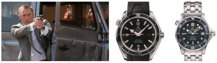 丹尼爾克雷格於電影《007:皇家夜總會》飾演詹姆士龐德時所配戴的 OMEGA 海馬潛水錶們。