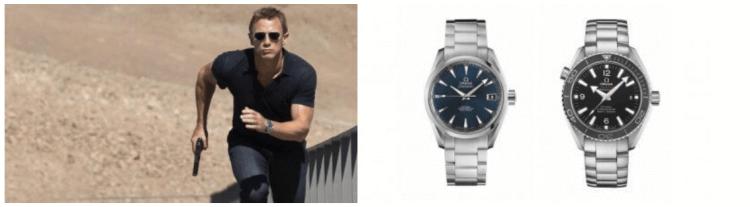 電影《007:空降危機》中,詹姆士龐德配戴了兩款 OMEGA 海馬錶。