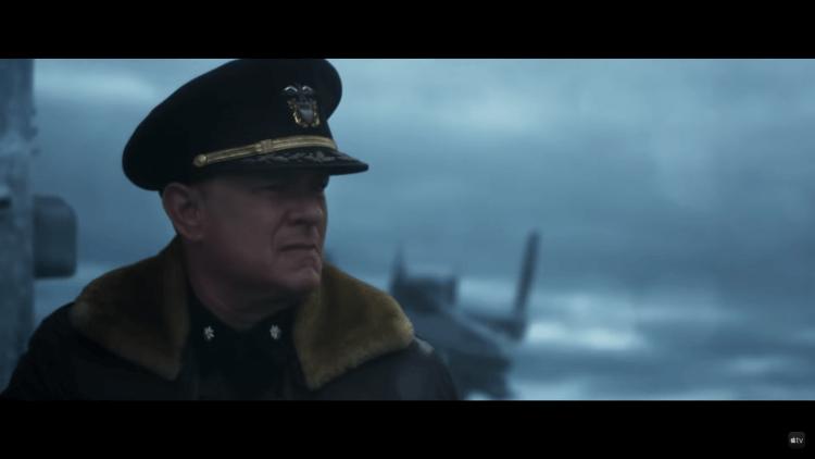 湯姆漢克斯電影《怒海戰艦》劇照。