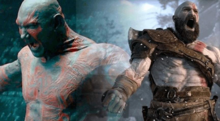 在《 星際異攻隊 》飾演 德克斯 的前 WWE 職業摔角手 巴帝斯塔 是導演眼中《 戰神 》 奎爺 的不二人選。