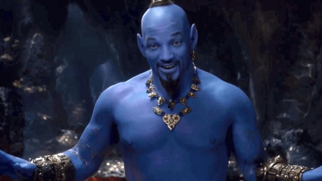 抓到了!威爾史密斯是「藍」的!《阿拉丁》全新預告大秀神燈精靈全貌首圖
