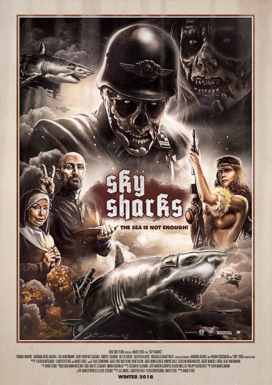 電影《天空鯊:納粹終極武器》主視覺海報。
