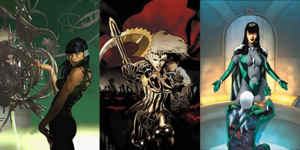 漫威漫畫《永恆族》中三位較可能由安潔莉娜裘莉演出的角色:瑟西 (Sersi)、蒂娜 (Thena) 以及伊莉斯亞絲 (Elysius)。