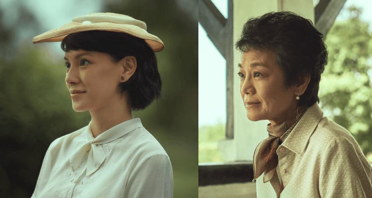 李心潔與張艾嘉在電影《夕霧花園》中,分別飾演不同時期的女主角張雲林。