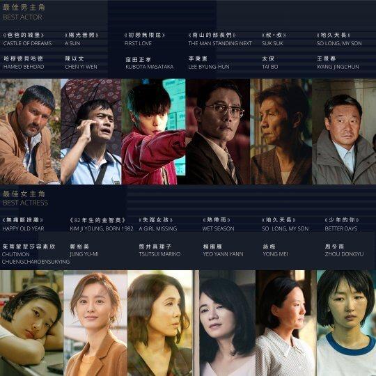 第14屆亞洲電影大獎最佳男女主角入圍名單
