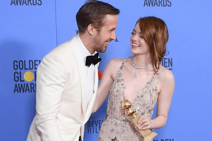 螢幕情侶 : 雷恩葛斯林 (Ryan Gosling) & 艾瑪史東 (Emma Stone) 。